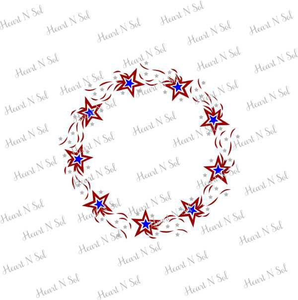 Star Monogram Frame Heart N Sol